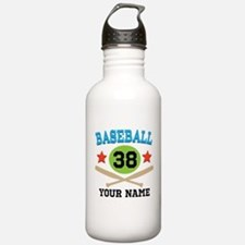 Personalized Hockey Player Number Water Bottle