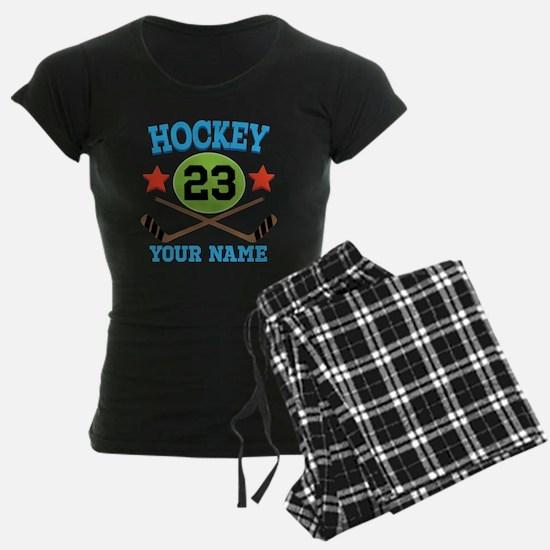 Personalized Hockey Player Number Pajamas