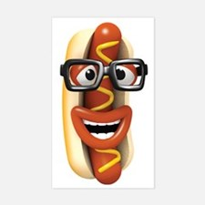 3d-hotdog-glasses Sticker (Rectangle)