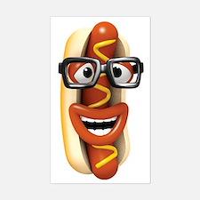 3d-hotdog-glasses Sticker (Rectangle)