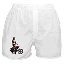 Biker_Girl_Road_Angel_notecard Boxer Shorts