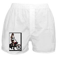 Biker_Girl_Road_Angel_postcard Boxer Shorts