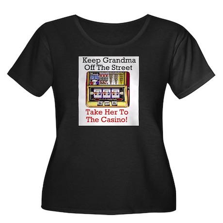 Grandma's Gambling Plus Size Scoop Neck T-Shirt Pl