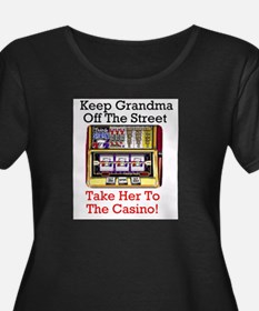 Grandma's Gambling Plus Size Scoop Neck T-Shirt Pl