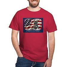 Scottish Terrier Scotty Flag Dark Colored T-Shirt