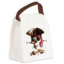 Dead Pirate banner eye Canvas Lunch Bag