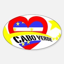 Cabo Verde Heart Stars Decal