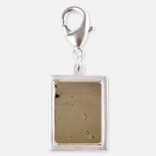 Footprints in The Sand Silver Portrait Charm