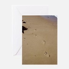 Footprints in The Sand Greeting Card