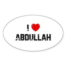 I * Abdullah Oval Decal