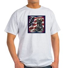 Scottish Terrier Scotty USA Flag T-Shirt