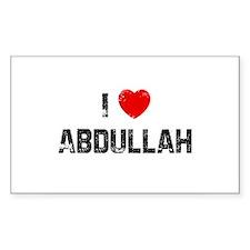 I * Abdullah Rectangle Decal
