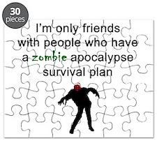 Zombie Apocalypse Friends Puzzle