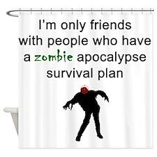 Zombie Apocalypse Friends Shower Curtain