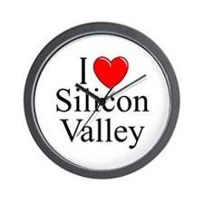 """""""I Love Silicon Valley"""" Wall Clock"""