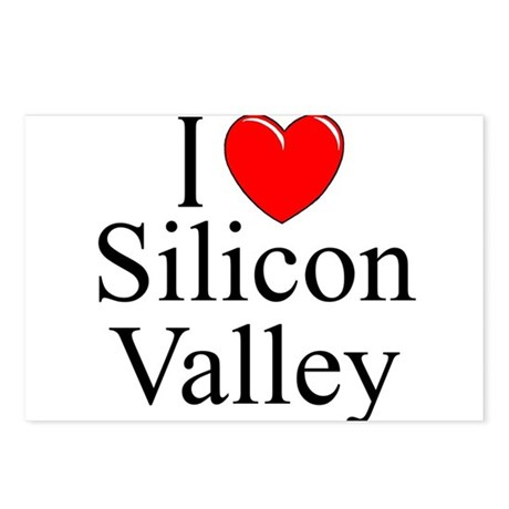 """""""I Love Silicon Valley"""" Postcards (Package of 8)"""