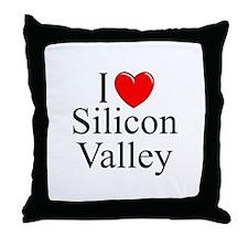 """I Love Silicon Valley"" Throw Pillow"
