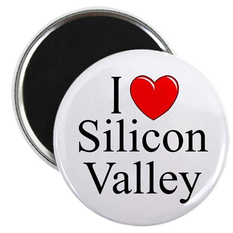 """""""I Love Silicon Valley"""" Magnet"""
