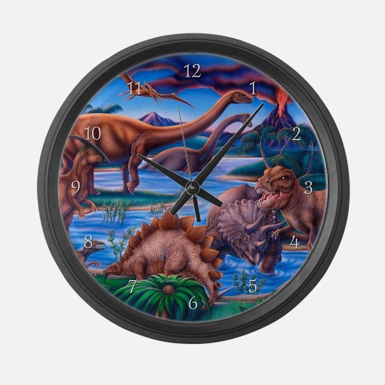 Dinosaurs Large Wall Clock