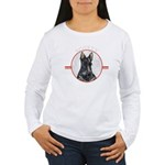 Scottish Terrier Scotty Womens Long Sleeve T-Shirt