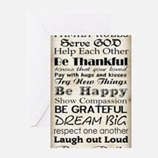 Family Rules God Greeting Card