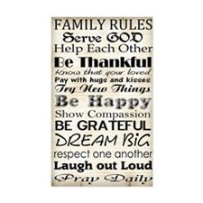Family Rules God Decal