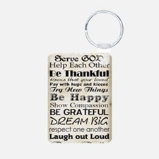Family Rules God Keychains