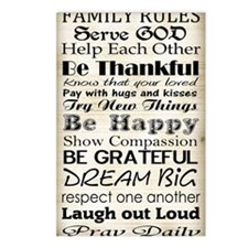 Family Rules God Postcards (Package of 8)
