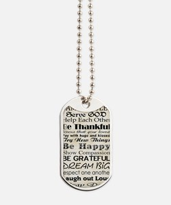 Family Rules God Dog Tags