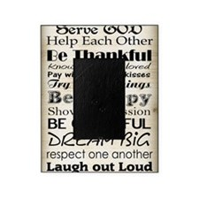 Family Rules God Picture Frame