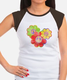 Flower Power Women's Cap Sleeve T-Shirt