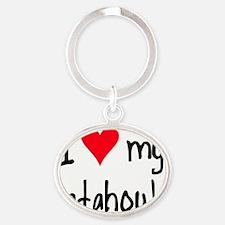 iheartcatahoulaleoparddog Oval Keychain
