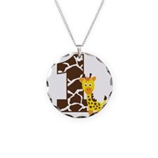 GiraffeBirthdayBoy1 Necklace Circle Charm