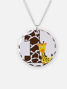 GiraffeBirthdayBoy1 Necklace Circle Charm