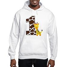 GiraffeBirthdayBoy1 Jumper Hoody