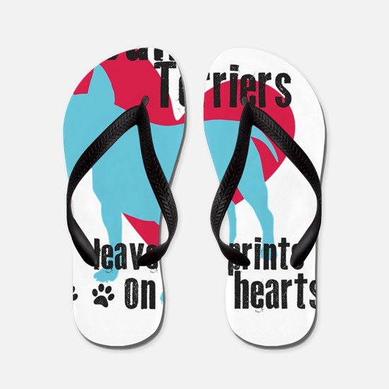pawprints3 Flip Flops
