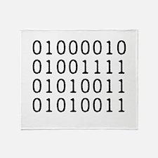 BOSS in Binary Code Throw Blanket