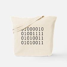 BOSS in Binary Code Tote Bag