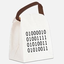 BOSS in Binary Code Canvas Lunch Bag