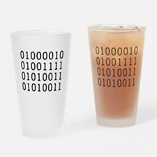 BOSS in Binary Code Drinking Glass