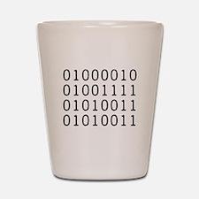 BOSS in Binary Code Shot Glass