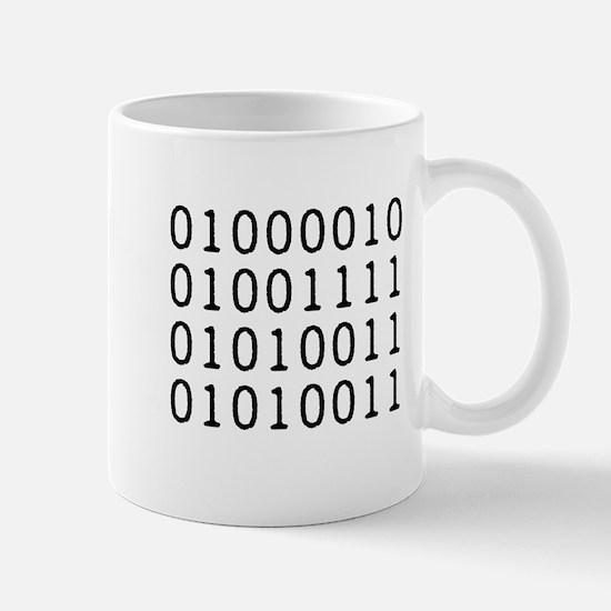 BOSS in Binary Code Mugs