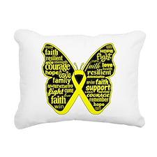 Endometriosis Awareness Butterfly Rectangular Canv