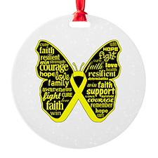 Endometriosis Awareness Butterfly Ornament