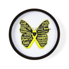Endometriosis Awareness Butterfly Wall Clock