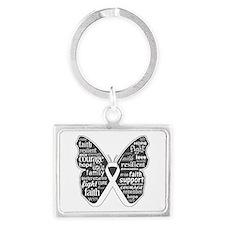 Emphysema Awareness Butterfly Landscape Keychain