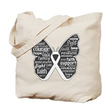 Emphysema Awareness Butterfly Tote Bag