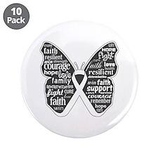 """Emphysema Awareness Butterfly 3.5"""" Button (10 pack"""