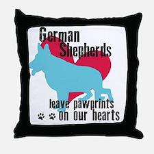 pawprints3 Throw Pillow