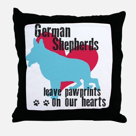 pawprints3 Throw Pillow
